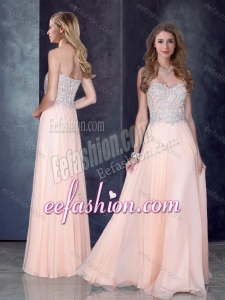 2016 Simple Empire Baby Pink Dama Dress with Beading and Appliques