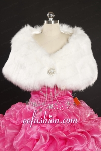 2014 Luxurious Rabbit Fur Party Wraps in White