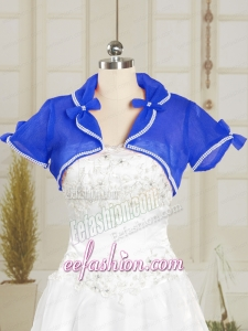Beading Royal Blue Wedding Party Shawls for 2015