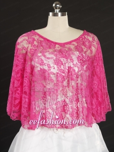 Hot Pink Beading Lace Hot Sale Wraps for 2014