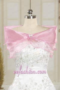 Pretty Beading Pink Wedding Party Shawls for 2014