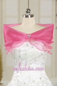 Pretty Rose Pink Wedding Party Shawls for 2014