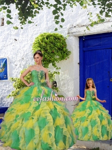 Most Popular Beading and Ruffles Princesita Dress in Multi-color