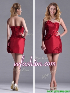 Best Selling Column Wine Red Prom Dress with Asymmetrical Neckline