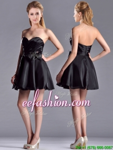 Exquisite Bowknot Organza Short Prom Dress with Zipper Up