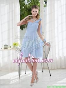 2015 Romantic One Shoulder Zipper Up Prom Dress