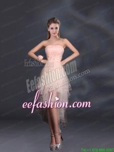 Appliques Strapless Ruffles Organza 2015 Sturning Prom Dresses