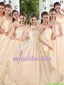 Empire Ruching 2015 Floor Length Prom Dress