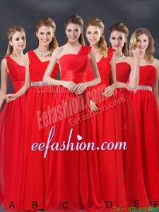 Ruching Empire 2015 Feminine Prom Dresses