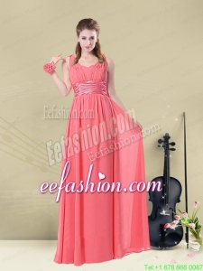 Super Hot Straps Floor Length Prom Dress with Belt