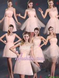 Baby Pink Mini Length 2015 The Most Popular Prom Dresses