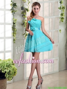 Perfect Ruching and Hand Made Flowers Prom Dress with Strapless