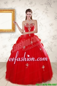 2015 Discount Sweetheart Quinceanera Dresses with Appliques