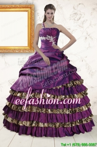 Amazing One Shoulder Quinceanera Dresses with Beading and Leopard