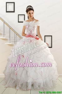 Appliques and Belt 2015 Brand Amazing Quinceanera Dresses