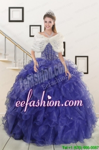 2015 New Style Sweetheart Quinceanera Dresses with Sequins and Ruffles