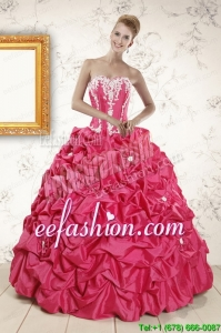 2015Discount Ball Gown Sweetheart Quinceanera Dresses with Appliques