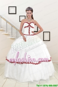 Discount Sweetheart Ball Gown Quinceanera Dresses with Appliques