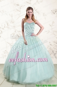 In Stock Apple Green Quinceanera Dresses with Reinstones