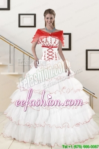 New Style Ruffeld Layers 2015 Quinceanera Dresses with Strapless