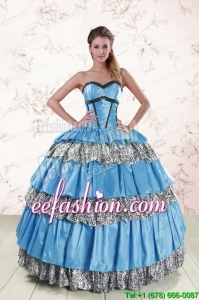 New Style Sweetheart Ball Gown Beading Quinceanera Dresses for 2015