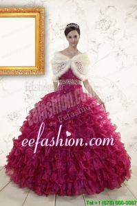 New Style Sweetheart Quinceanera Gown with Beading and Ruffles