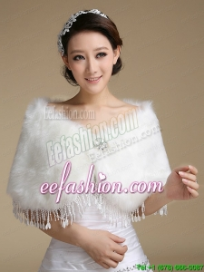 2015 Beautiful Rabbit Fur Shawls with Rhinestone