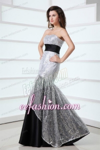 2014 Sexy Mermaid Sweetheart Sequins Floor-length Grey Prom Dress