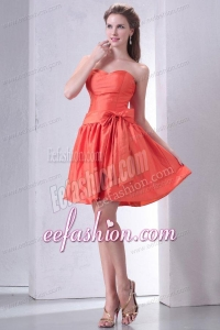 Cheap Sweetheart Short Prom Dress with Bowknot Mini-length