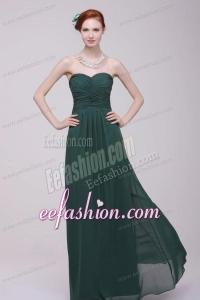 Sweetheart Chiffon Empire Ruche Floor-length Prom Dress for Cheap