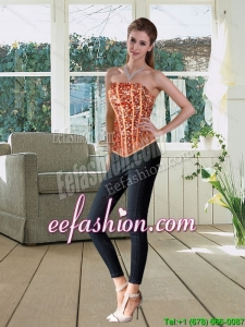The Most Popular Strapless Multi Color Corset with Beading
