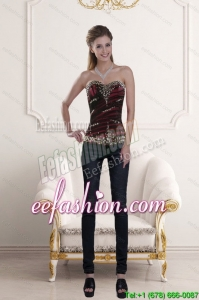 2015 Sweetheart Multi Color Corset Dresses with Ruffles and Beading