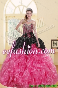 2015 Most Popular Beading and Ruffles Sweet 16 Dresses in Multi Color