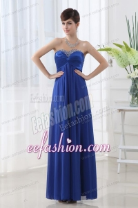 Sweetheart Empire Backless Beading Prom Dress