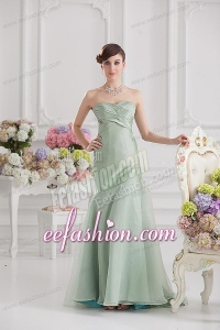 Mermaid Green Taffeta Long Prom Dress with Sweetheart