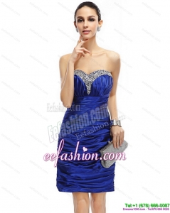 Fashionable Sweetheart Prom Dresses with Ruching and Beading
