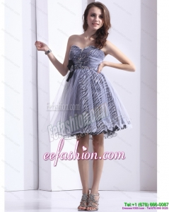 New Style Sweetheart Leopard 2015 Prom Dress with Beading