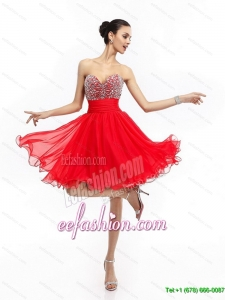 Pretty Sweetheart Short Prom Dresses with Rhinestones and Ruching