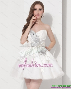 Wonderful Sweetheart Ball Gown Prom Dress in White