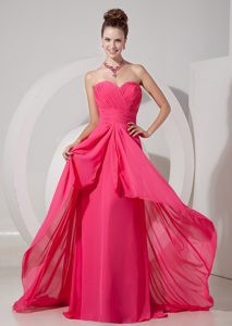 Cheap Coral Red Empire Betty Celebrities Dress with Sweetheart