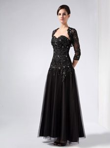Customize Black Sweetheart Mother Dress for Church Wedding with Beadings