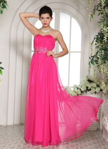 Inexpensive Hot Pink Prom Dresses for Summer with Sweetheart