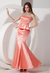 Nice Mermaid Sweetheart Ankle-length Prom Gowns in Watermelon