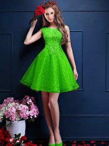Sleeveless Tulle Lace Up Dama Dress for Quinceanera for Prom and Party