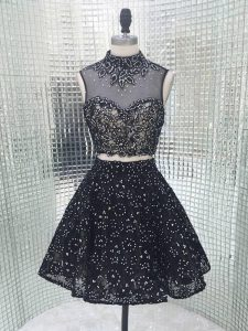 Inexpensive Sleeveless Beading and Lace and Appliques Backless Club Wear