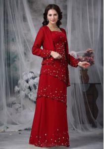 Chiffon Sleeveless Floor Length Mother Of The Bride Dress and Beading