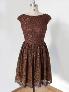 Clearance Lace Cap Sleeves Knee Length Dama Dress and Lace