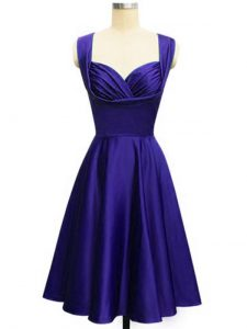 Taffeta Straps Sleeveless Lace Up Ruching Court Dresses for Sweet 16 in Purple