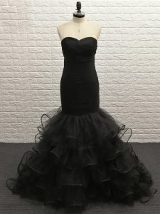 Popular Black Sleeveless Tulle Zipper Homecoming Dress for Prom and Sweet 16