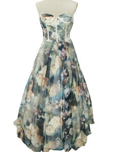 Multi-color Zipper Sweetheart Ruching Homecoming Dress Printed Sleeveless